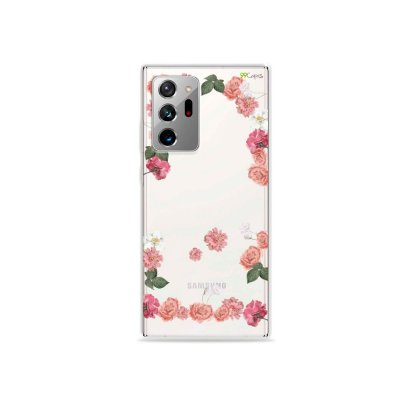 Capa (Transparente) para Galaxy Note 20 Ultra - Pink Roses