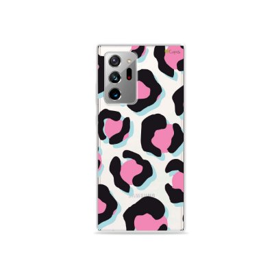 Capa (Transparente) para Galaxy Note 20 Ultra - Animal Print Black & Pink