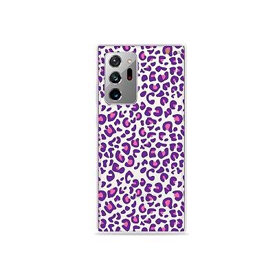 Capa (Transparente) para Galaxy Note 20 Ultra - Animal Print Purple
