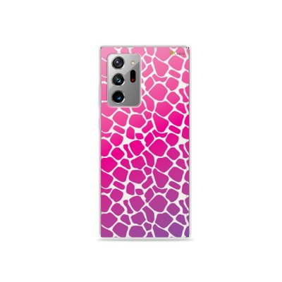 Capa (Transparente) para Galaxy Note 20 Ultra - Animal Print Pink