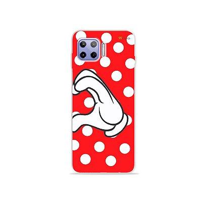 Capa para Moto G 5G Plus - Coração Minnie