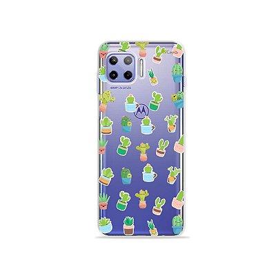 Capa (Transparente) para Moto G 5G Plus - Cactus