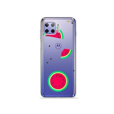 Capa (Transparente) para Moto G 5G Plus - Melancias