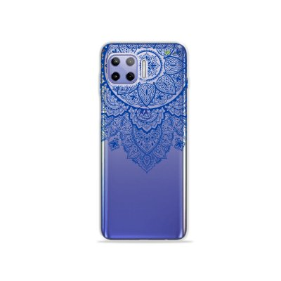 Capa (Transparente) para Moto G 5G Plus - Mandala Azul