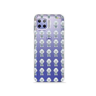 Capa (Transparente) para Moto G 5G Plus - Poodle