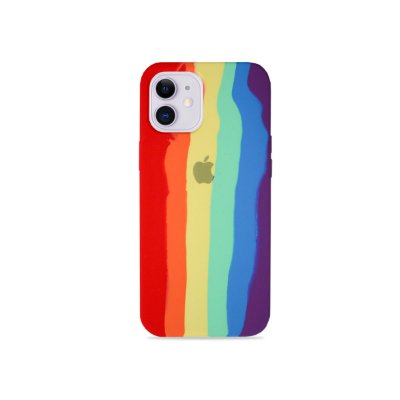 Silicone Case Arco-íris para iPhone 12 Mini - 99Capas