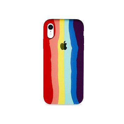 Silicone Case Arco-íris para iPhone XR - 99Capas