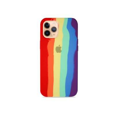Silicone Case Arco-íris para iPhone 12 Pro Max - 99Capas