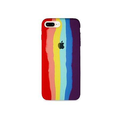 Silicone Case Arco-íris para iPhone 8 Plus - 99Capas