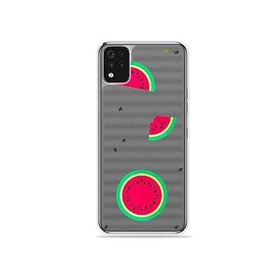 Capa (Transparente) para LG K52 - Melancias