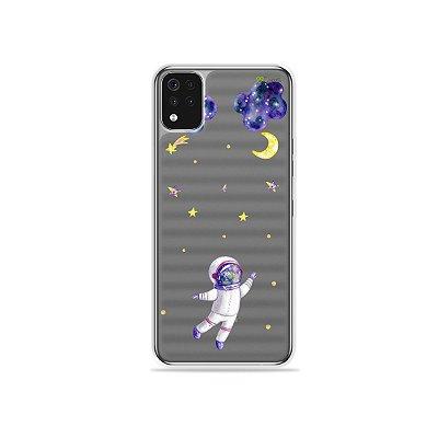 Capa (Transparente) para LG K52 - Astronauta Sonhador