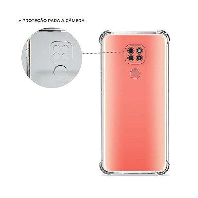 Capa Anti-Shock Transparente para Moto G9 Play (com proteção para câmera)