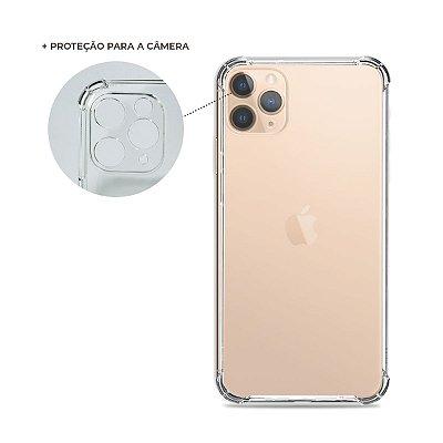 Capa Anti-Shock Transparente para iPhone 12 Pro (com proteção para câmera)