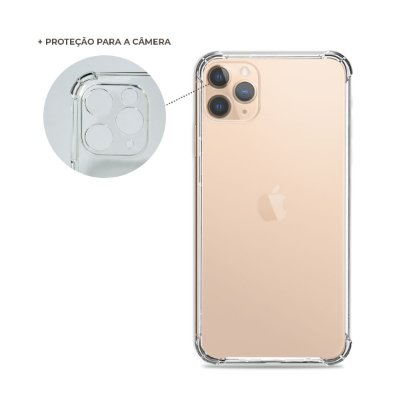 Capa Anti-Shock Transparente para iPhone 12 Pro Max (com proteção para câmera)