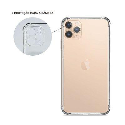 Capa Anti-Shock Transparente para iPhone 11 Pro Max (com proteção para câmera)