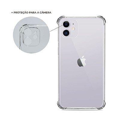 Capa Anti-Shock Transparente para iPhone 11 (com proteção para câmera)