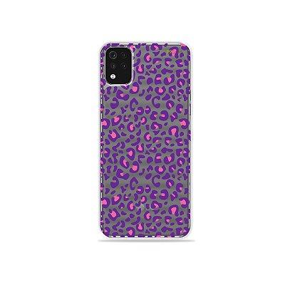 Capa (Transparente) para LG K52 - Animal Print Purple