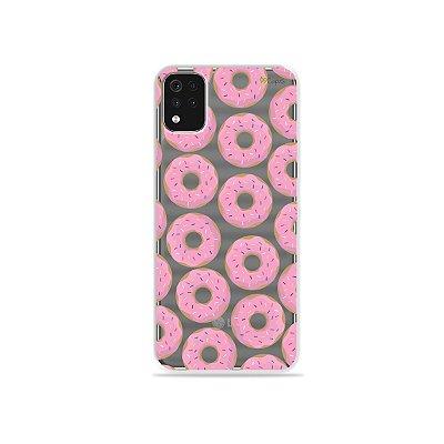 Capa (Transparente) para LG K52 - Donuts