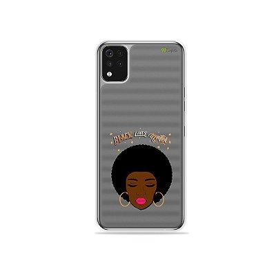 Capa (Transparente) para LG K52 - Black Lives