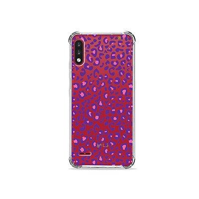 Capa (Transparente) para LG K22 - Animal Print Purple