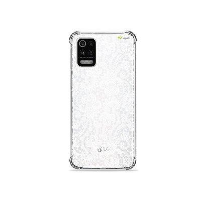 Capa (Transparente) para LG K62 - Rendada