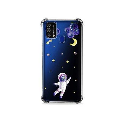 Capa (Transparente) para Galaxy M21s - Astronauta Sonhador