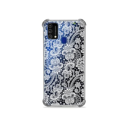 Capa (Transparente) para Galaxy M21s - Rendada