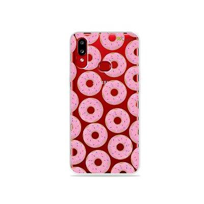 Capinha (transparente) para Galaxy A10s - Donuts