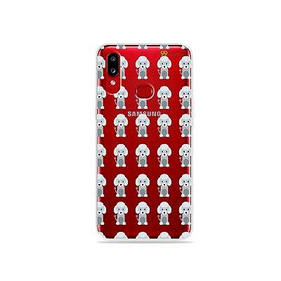 Capinha (transparente) para Galaxy A10s - Poodle