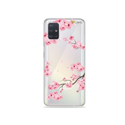 Capinha (transparente) para Galaxy A51 - Cerejeiras