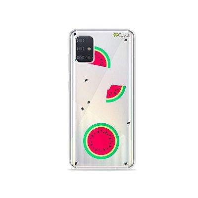 Capinha (transparente) para Galaxy A51 - Melancia