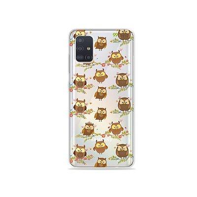 Capinha (transparente) para Galaxy A51 - Corujinhas