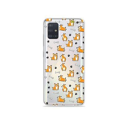 Capinha (transparente) para Galaxy A51 - Cãozinho