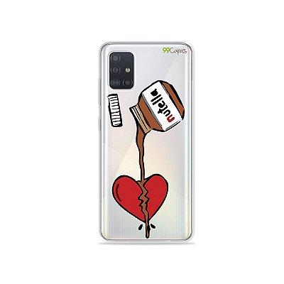 Capinha (transparente) para Galaxy A51 - Nutella