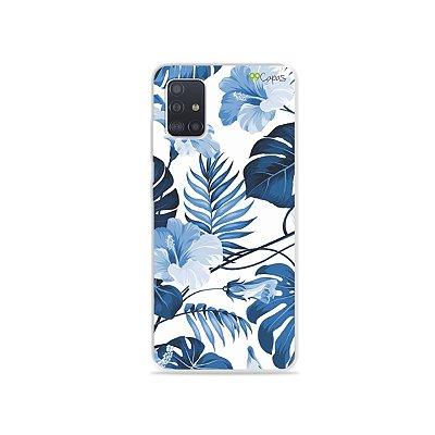Capinha para Galaxy A51 - Flowers in Blue