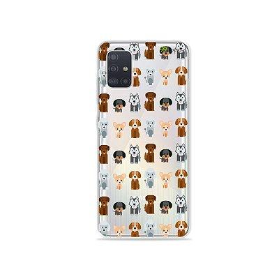 Capinha (transparente) para Galaxy A51 - Doguinhos