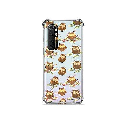 Capa (transparente) para Xiaomi Mi Note 10 Lite - Corujinhas