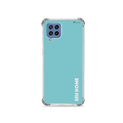 Capa Azul com nome personalizado para Galaxy A - 99Capas
