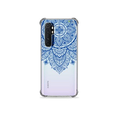 Capa (transparente) para Xiaomi Mi Note 10 Lite - Mandala Azul