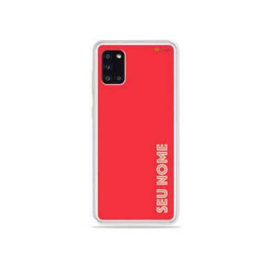 Capa Color Coral com nome personalizado para Galaxy A - 99Capas