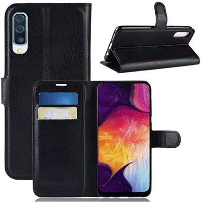Capa Carteira Preta para Galaxy A50