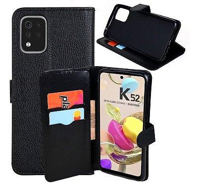 Capa Carteira Preta para LG K52