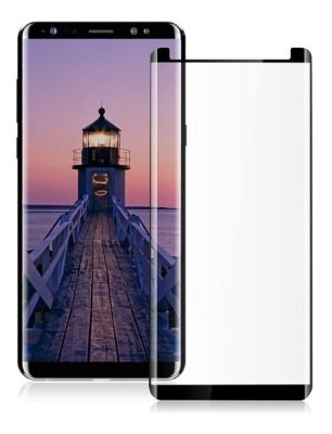 Película de Vidro 3D (borda preta) para Galaxy Note 8 - 99Capas