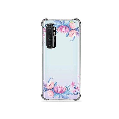 Capa (transparente) para Xiaomi Mi Note 10 Lite - Bromélias