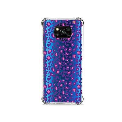 Capa (transparente) para Poco X3 - Animal Print Purple