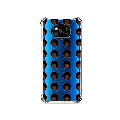 Capa (transparente) para Poco X3 - Black Girl