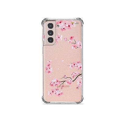 Capa (Transparente) para Galaxy S21 - Cerejeiras