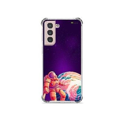 Capa para Galaxy S21 - Selfie Galáctica