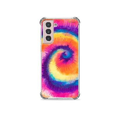 Capa para Galaxy S21 - Tie Dye Roxo