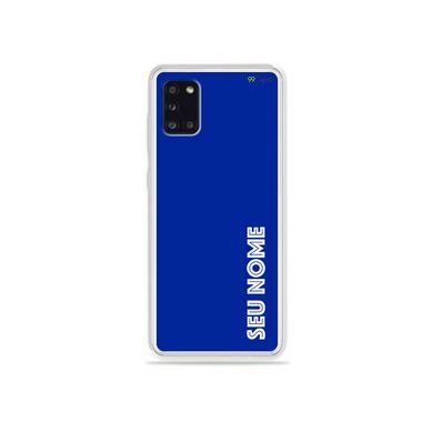Capa Azul Royal com nome personalizado para Galaxy S